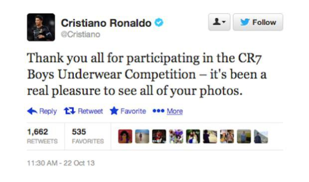 Cristiano Ronaldo's boys' pants tweet was a funny football social media fail