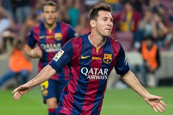 Messi celebrates after reading the jokes from Barcelona 7-0 Celtic
