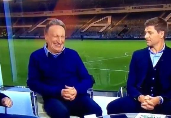 Steven Gerrard unimpressed with Neil Warnock joke about Liverpool lacking windows