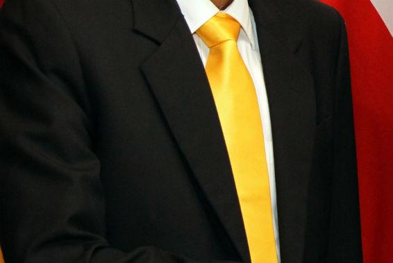 Yellow tie, symbolic of transfer deadline day