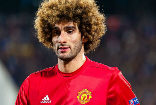 There were Marouane Fellaini jokes as he was sent off for a head-butt v Man City