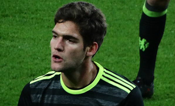Chelsea's Marcos Alonso scored twice at Spurs