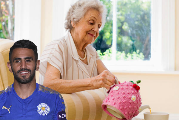 Leicester's Riyad Mahrez spotted at your nan's house