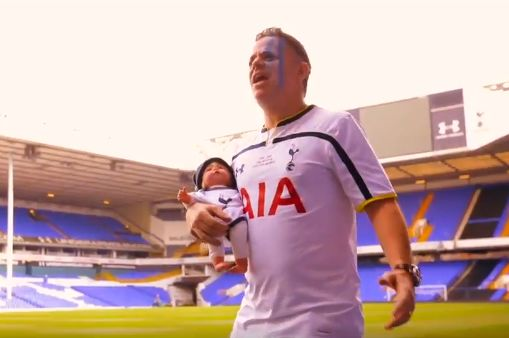 Spurs fans make Tottenham for Life music video at White Hart Lane for boy's bar mitzvah
