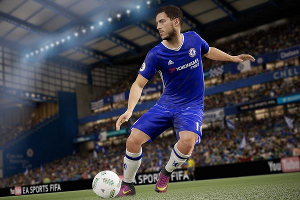 Eden Hazard will be too busy playing the game to look at the FIFA 18 jokes, probably