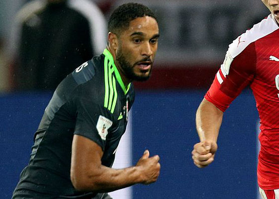 Ashley Williams playing for Wales