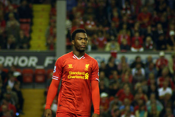 Daniel Sturridge playing for Liverpool