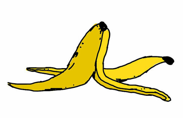 A banana skin representing Simone Inzaghi's slip