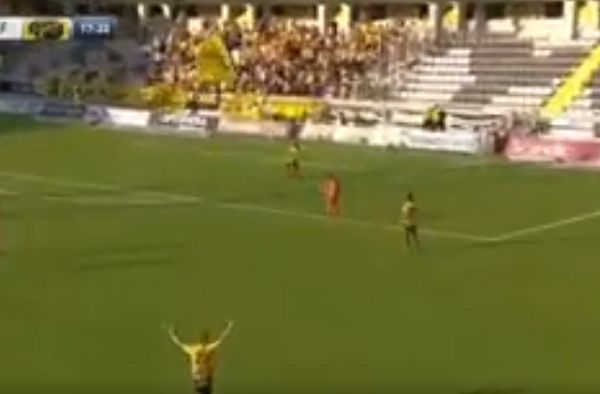 Swedish team Elfsborg score from a back-pass