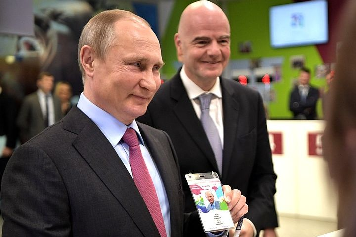 Putin shows his FIFA ID card ahead of Russia 2018 and would like these World Cup jokes and tweets as excitement builds