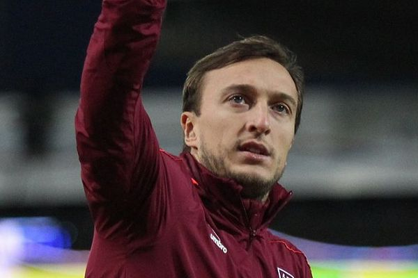 West Ham's Mark Noble was sent off at Leicester and there were jokes