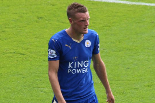 Vardy ran off the pitch towards the end of Leicester's loss at Arsenal and there were jokes