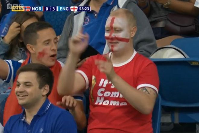 This fan can enjoy the funny tweets and jokes from Norway 0-3 England in the Women's World Cup quarter-final