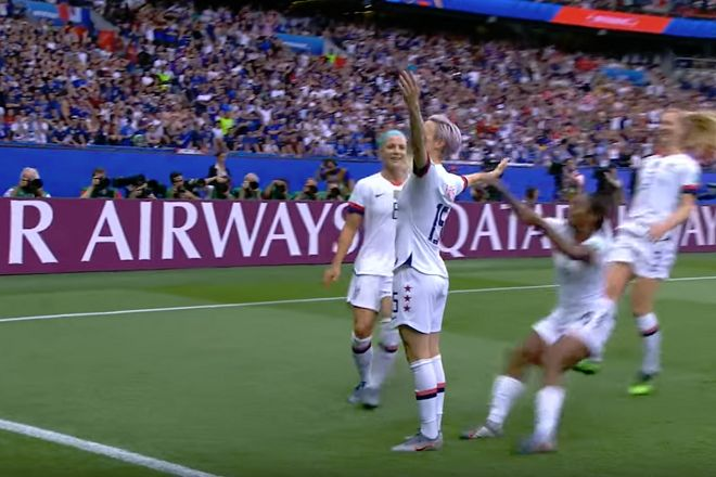 Megan Rapinoe's goal celebration in United States 2-1 Women's World Cup quarter-final win against France caused many funny tweets and jokes