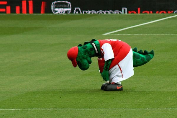There were tweets and jokes as Gunnersaurus was sacked by Arsenal on transfer deadline day