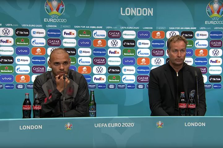 Denmark manager Kasper Hjulmand and Martin Braithwaite will need some time before looking at the tweets and jokes after England beat Denmark 2-1 in their Euro 2020 semi-final