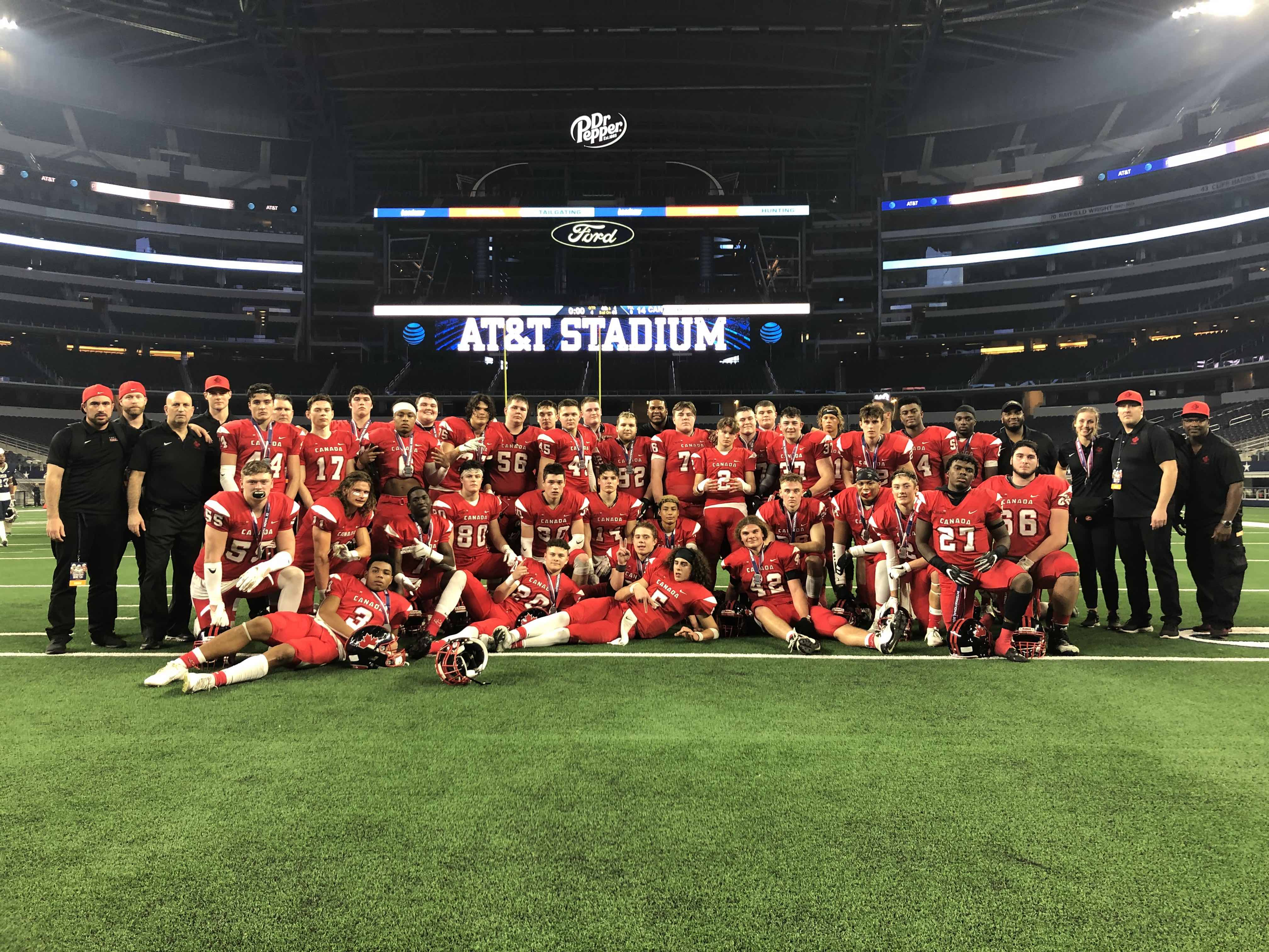 Canada's under-18 national team falls to the United States at 2020 International Bowl