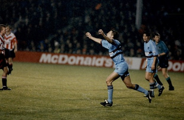 Outshined: One lucky West Ham supporter scored more goals than Lee Chapman (above) in a friendly in 1994