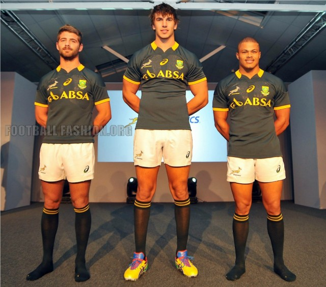 South Africa Springboks 2014 2015 Asics Home Rugby Jersey, Shirt, Kit