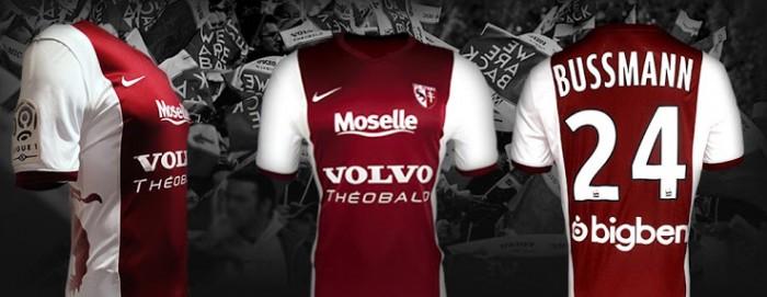 FC Metz 2014 2015 Nike Home, Away and Third Football Kit, Shirt, Soccer Jersey