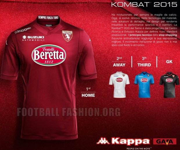 Torino FC Kappa 2014 2015 Home, Away and Third Soccer Jersey,  Football Kit,  Maglia