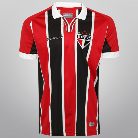 São Paulo FC 2015 Penalty Home and Away Football Kit, Soccer Jersey, Football Shirt, Camisa do Futebol