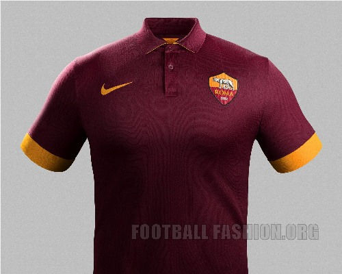 AS Roma 2014 2015 Nike Home Football Kit, Soccer Jersey, Shirt, Maglia