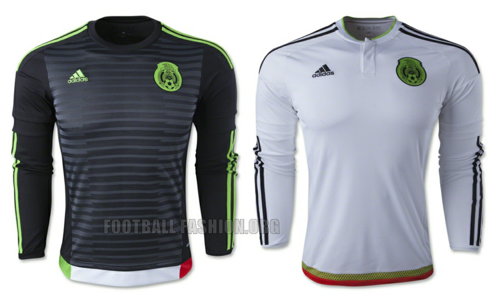 fd45e7897 Mexico 2015 2016 adidas Home and Away Soccer Jersey, Football Kit, Shirt,  Camiseta