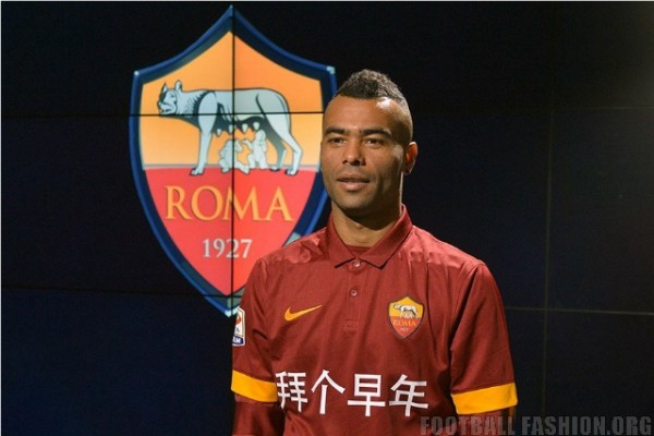 AS Roma Display Chinese New Greeting on Home Kit