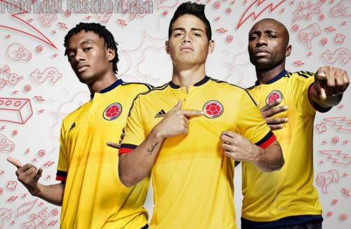 Colombia Yellow 2015 Copa America and World Cup adidas Home Soccer Jersey, Shirt, Football Kit, Camiseta de Futbol Amarilla