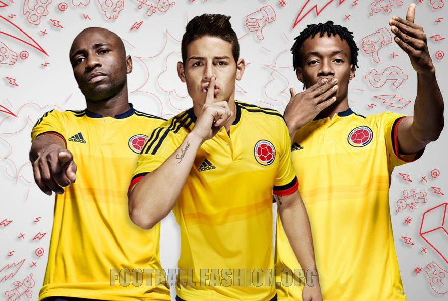 Colombia 2015 Copa America adidas Home Kit – FOOTBALL ...