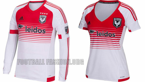 DC United 2015 adidas Away Soccer Jersey, Football Kit, Shirt, Camiseta de Futbol MLS