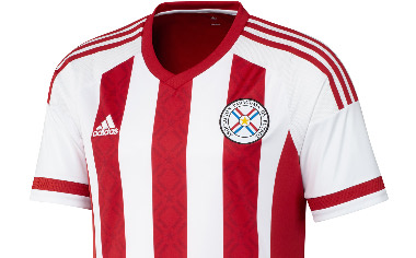 Paraguay 2015 Copa America Home Football Kit, Soccer Jersey, Shirt, Camiseta de Futbol