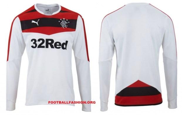 Rangers FC 2015/16 PUMA Home Football Kit, Soccer Jersey, Shirt