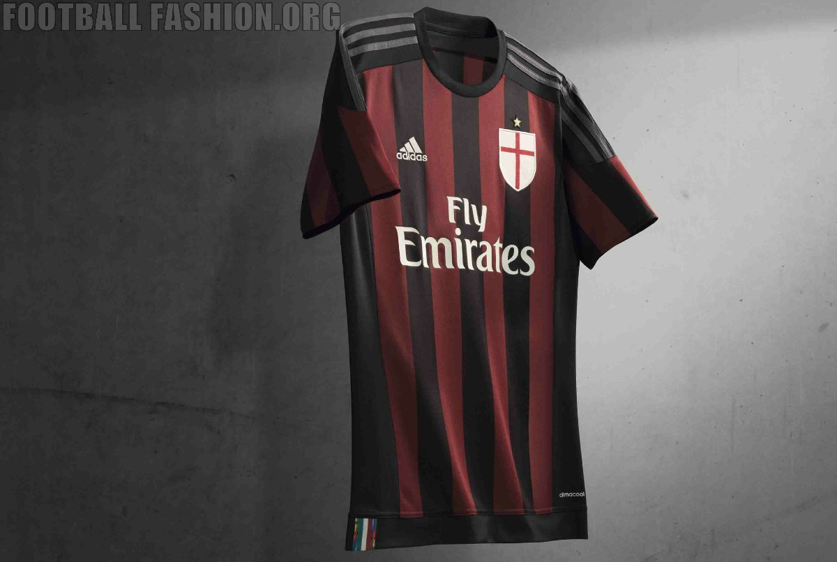 08c59450d9 AC Milan 2015 16 adidas Home Kit – FOOTBALL FASHION.ORG