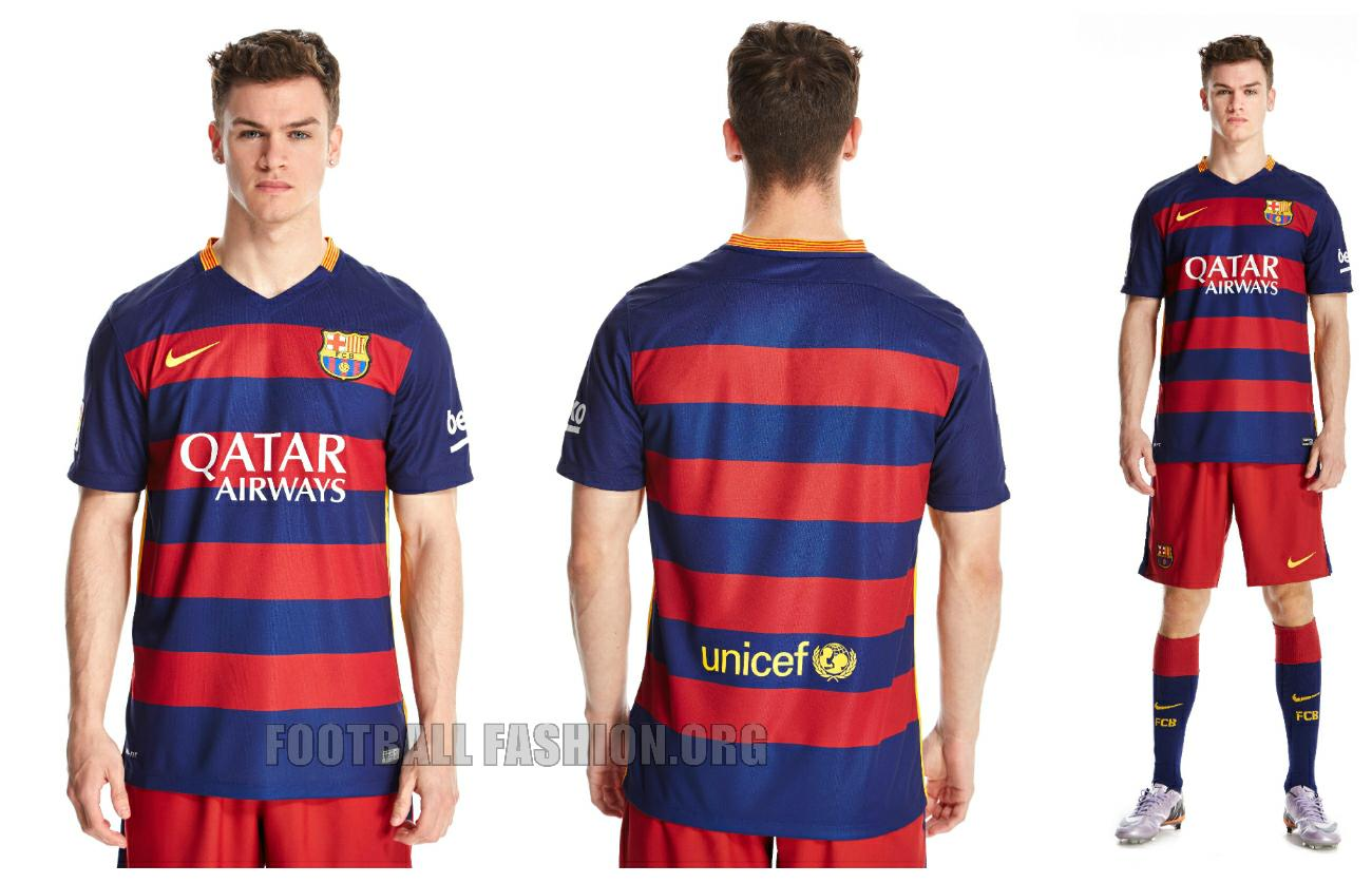 FC Barcelona 2015 2016 Hooped Nike Home and Away Football Kit, Soccer Jersey,  Shirt