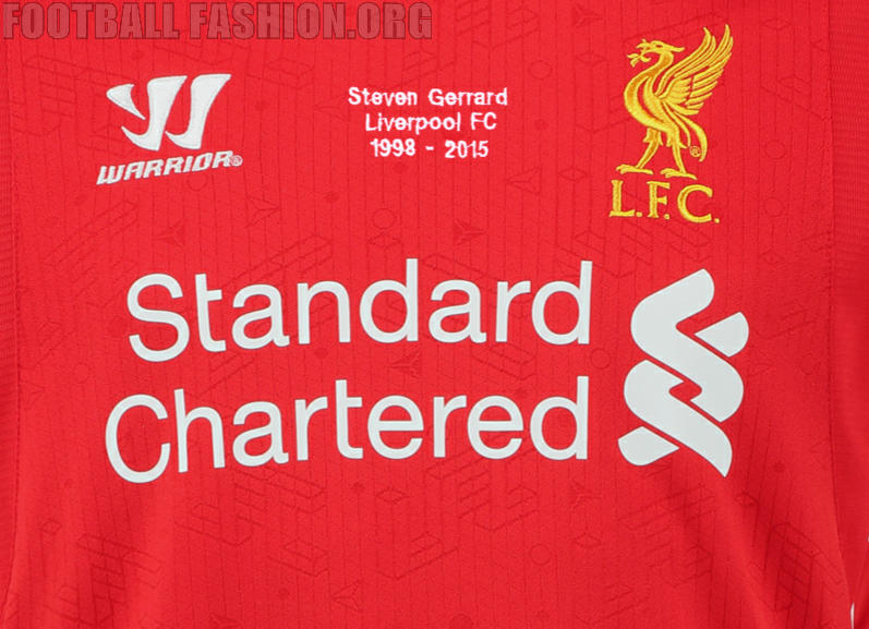 01db42aff Online retailer Kitbag now has an exclusive embroidered Liverpool FC Steven  Gerrard shirt on sale. The limited edition of the 2014 15 Reds home jersey  ...