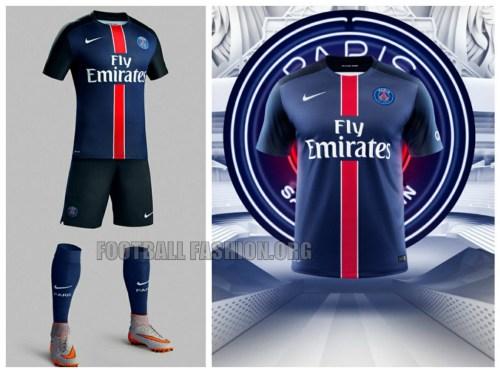 Paris Saint-Germain 2015 2016 Nike Home Football Kit, Soccer Jersey, Shirt, Maillot