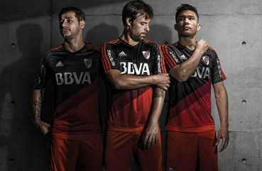 River Plate 2015 2016 adidas Third Football Kit, Soccer Jersey, Shirt, Camiseta Alternativa