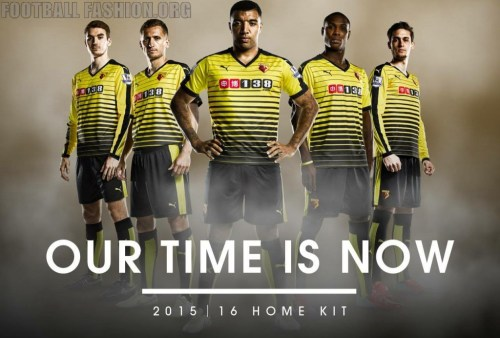 Watford FC 2015 2016 PUMA Home Football Kit, Soccer Jersey, Shirt