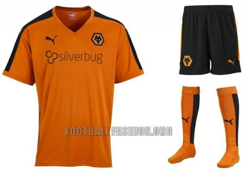 Wolverhampton Wanderers FC 2015 2016 PUMA Home Football Kit, Shirt, Jersey