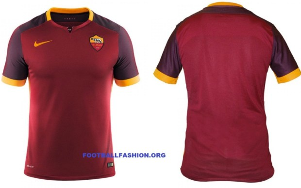 AS Roma 2015 2016 Nike Home Football Kiit, Soccer Jersey, Shirt, Maglia, Gara, Camiseta