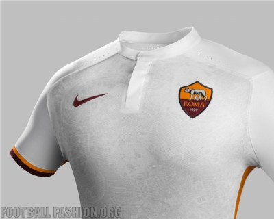 AS Roma 2015 2016 Nike White Away Football Kiit, Soccer Jersey, Shirt, Maglia, Gara, Camiseta