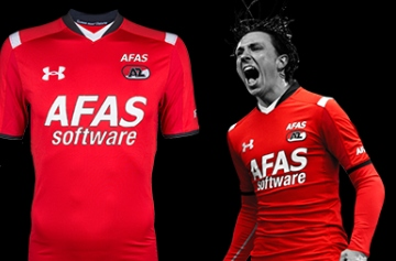 AZ Alkmaar 2015 2016 Under Armour Home Football Kit, Soccer Jersey, Shirt, Thuisshirt, Tenue