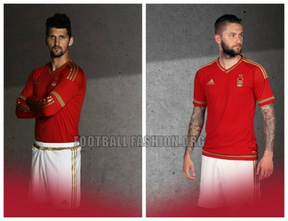 Nottingham Forest 150th Anniversary 2015 2016 adidas Home Football Kit, Soccer Jersey, Shirt
