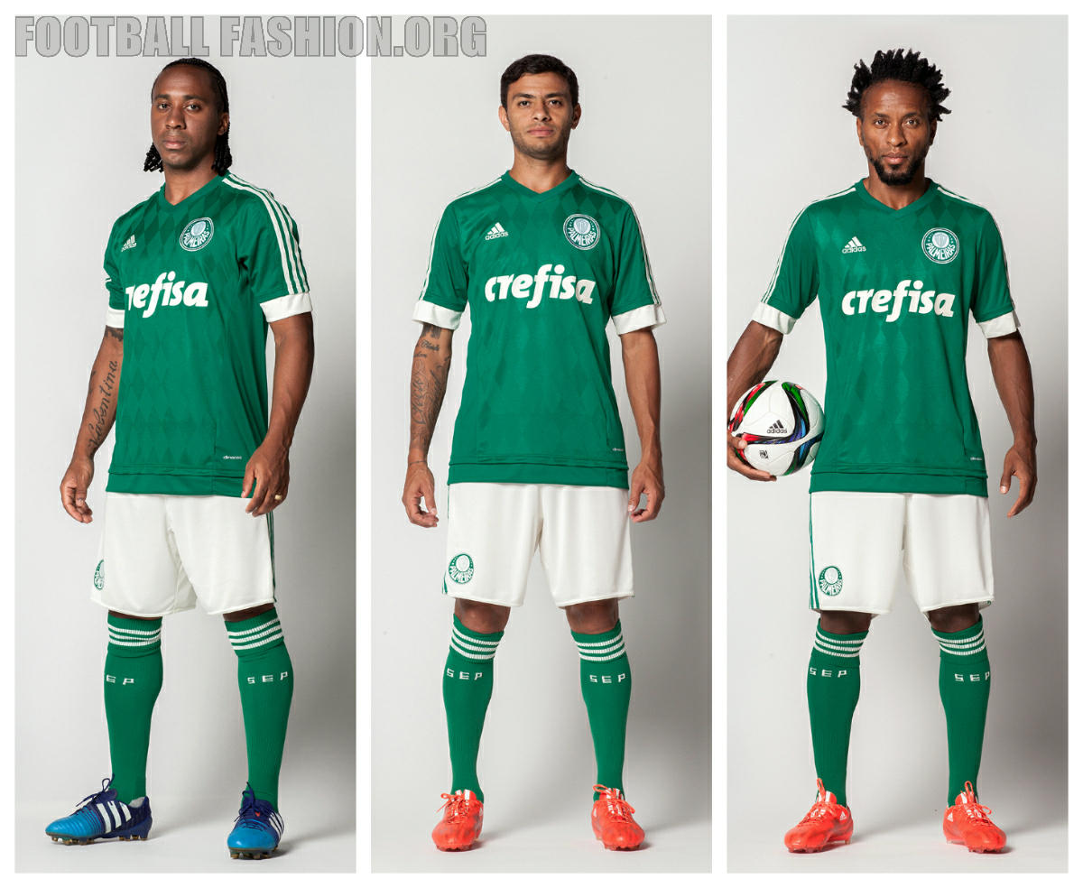303b30845a Palmeiras 2015 16 adidas Home Kit – FOOTBALL FASHION.ORG