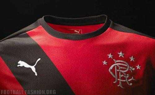 Rangers Football Club 2015 2-16 PUMA Red Away Football Kit, Soccer Jersey, Shirt