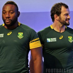 South Africa Springboks 2015 Rugby World Cup Asics Home and Away Kit, Jersey, Shirt