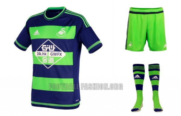 Swansea City AFC 2015 2016 adidas Home Football Kit, Soccer Jersey, Shirt