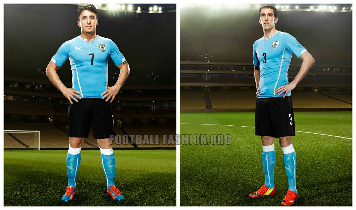 8ef38e4e65e Uruguay 2014 World Cup PUMA Home and Away Kits - FOOTBALL FASHION.ORG